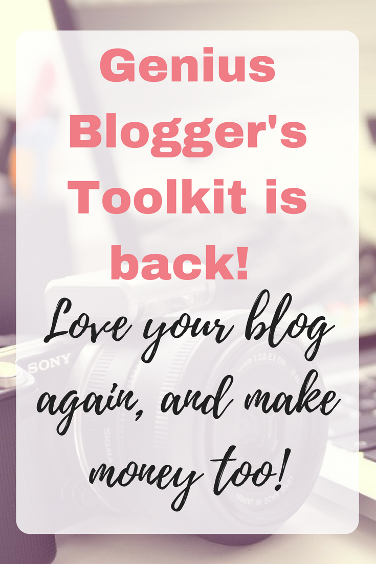Genius Blogger's Toolkit is back!