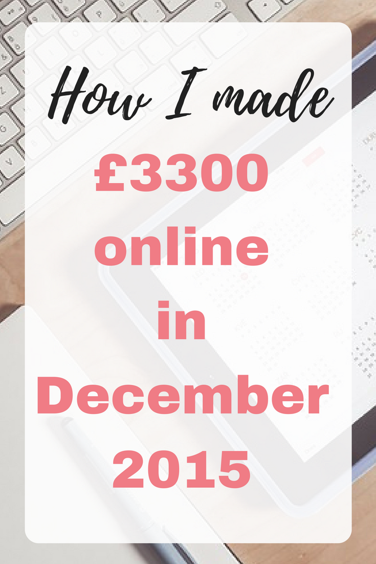 How I made £3300 online in December 2015 online income report