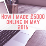 May 2016 online income report