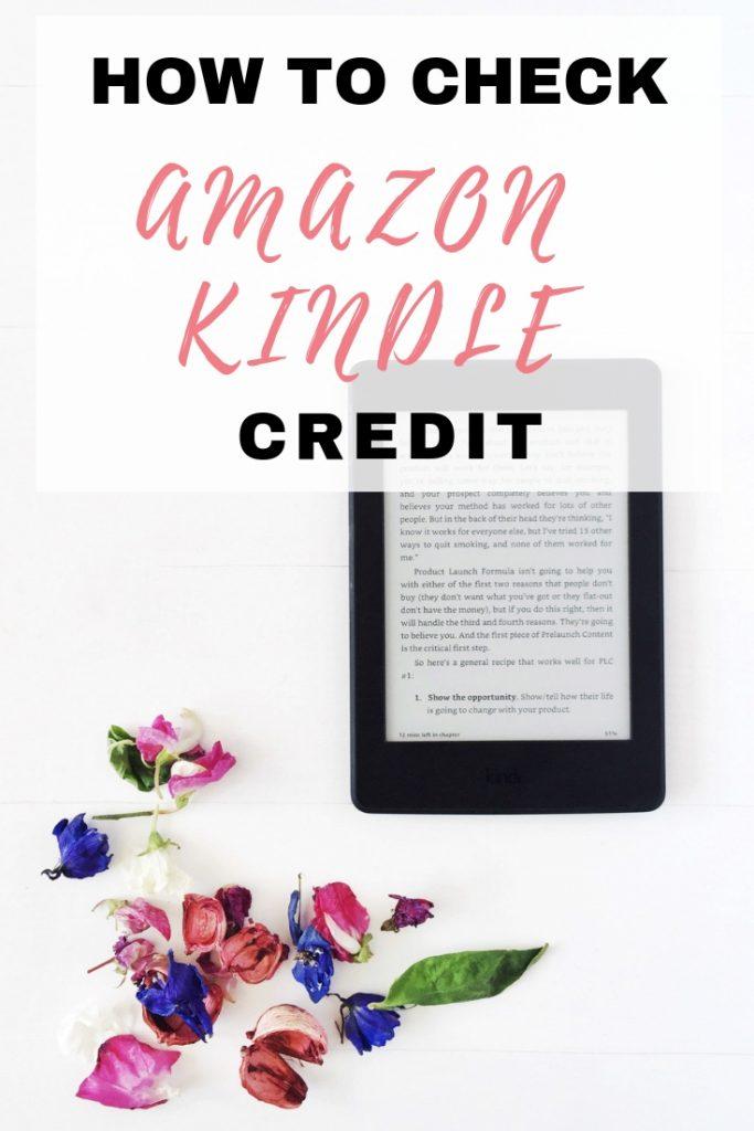 How to check Amazon Kindle Credit - EmmaDrew Info