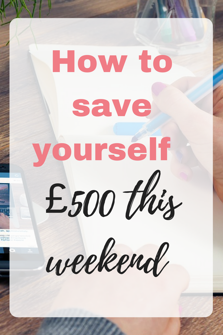 We could all do with finding ways to save money, and I want to challenge you to taking a few hours over this next weekend to see how you can save £500 by Emma at EmmaDrew.info #SaveMoney #Budget