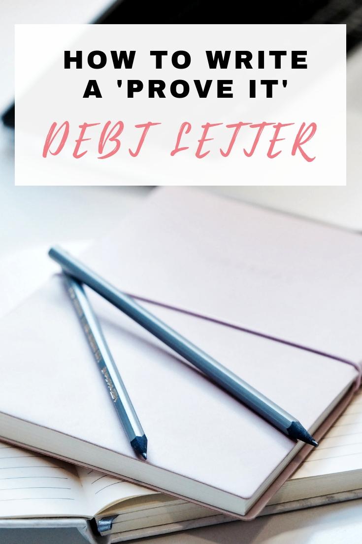 """Debt """"prove it"""" letter"""