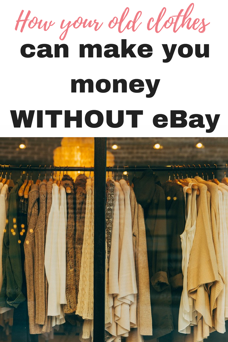 Here are some of the best ways that your old clothes can make you money without hassle and help save the environment at the same time by Emma at EmmaDrew.info #MakeMoney #MakeMoneyFromHome #EarnMoney #OldClothes