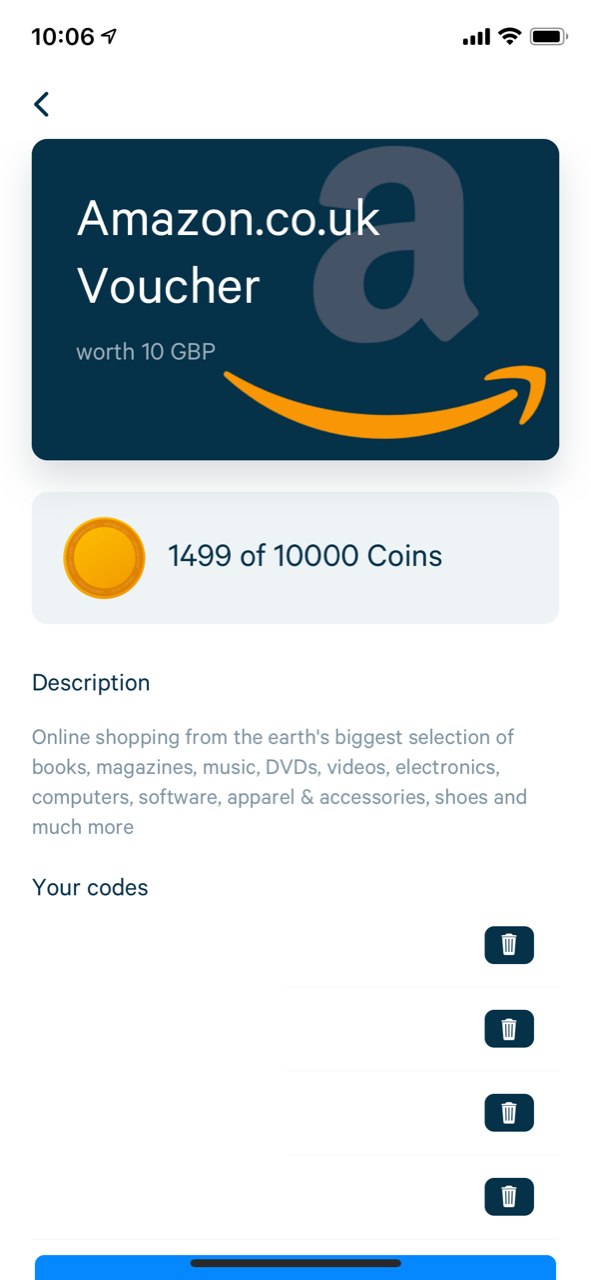 Earning Amazon vouchers with Appinio