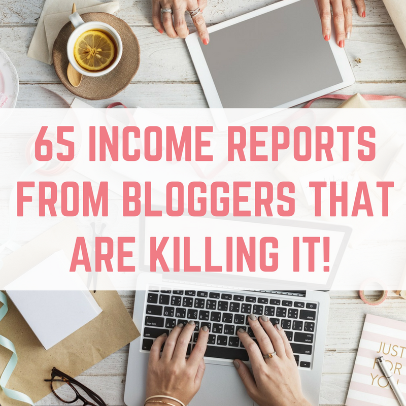 income reports from bloggers