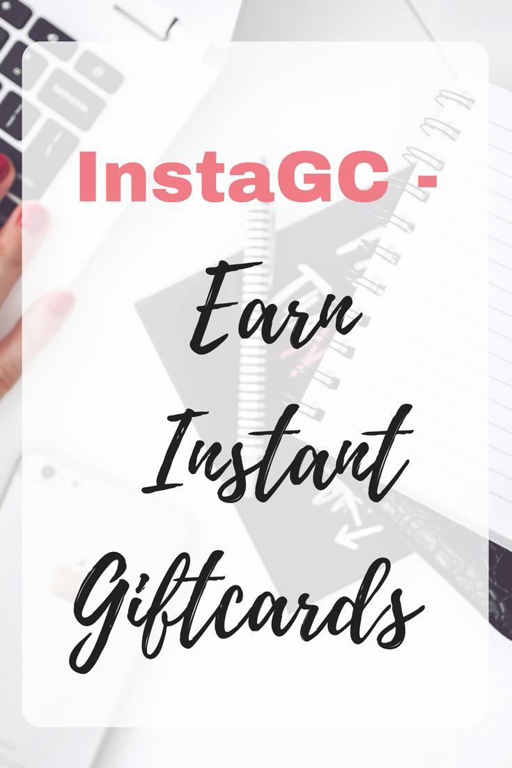 InstaGC - Earn Instant Giftcards #GiftCards #MakingMoney Instagc review