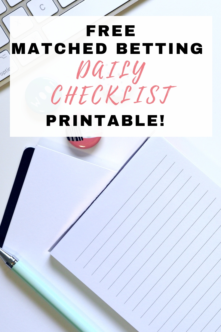 Free Matched Betting Daily Checklist Printable