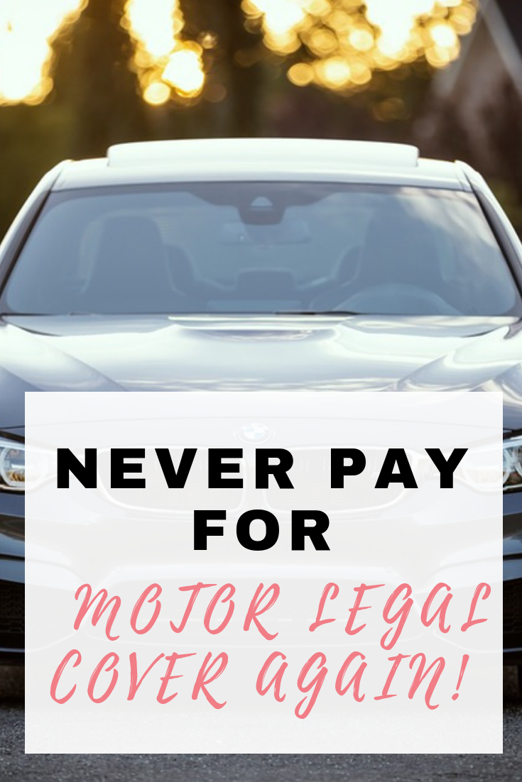 Never pay for motor legal cover again and here's how by Emma at EmmaDrew.info #CarInsurance #legalcover #savemoney