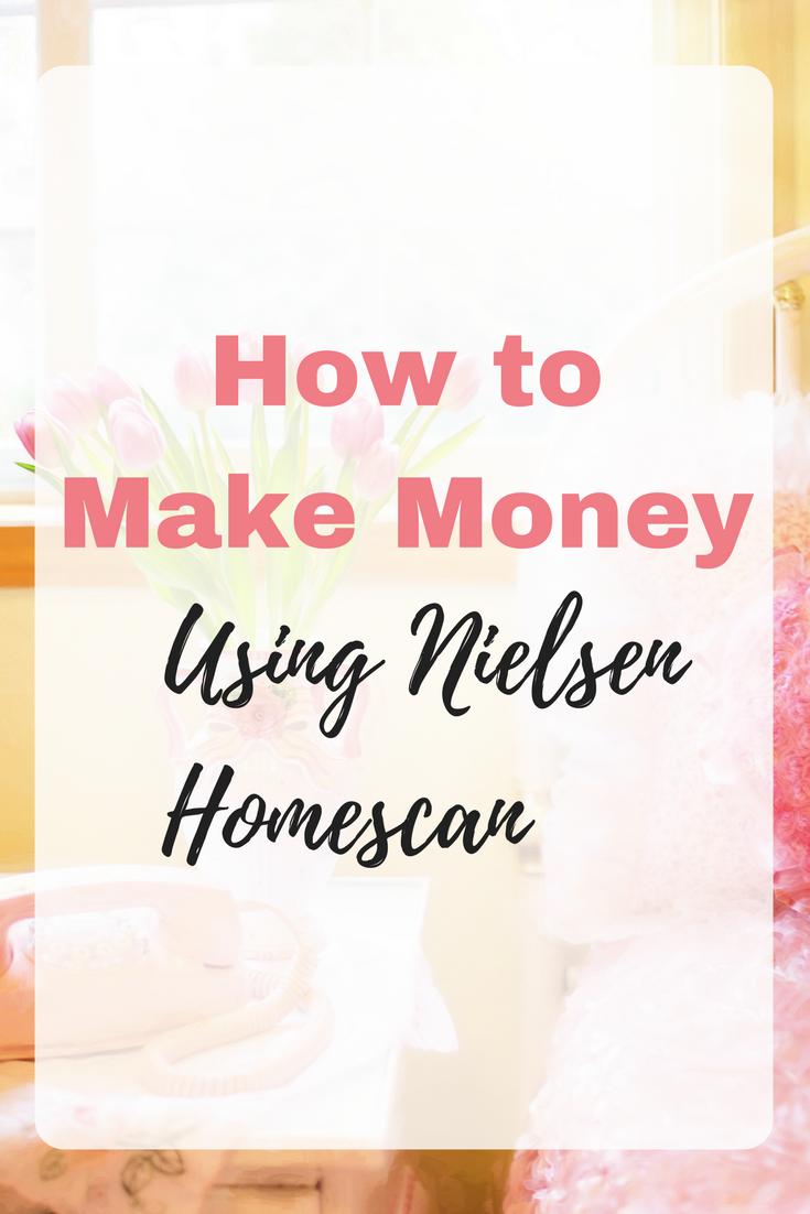 How to make money using Nielsen Homescan. #MakeMoney #MakeMoneyFromHome #OnlineMoneyMaking