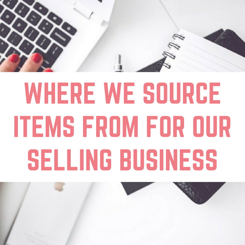 Where we source items for our reselling business on eBay