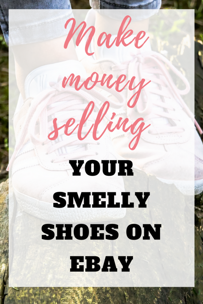 This is how to sell your old smelly shoes on eBay. eBay selling is a great way to make extra money from home by Emma at EmmaDrew.info. #eBaySelling #eBaySellingTips #eBaySellingIdeas #eBayReselling #MakingMoneyOnline #MoneyMakingAtHome #eBay #MakeMoneyOneBay