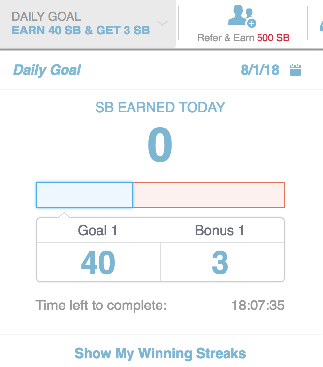 Swagbucks Daily Goal
