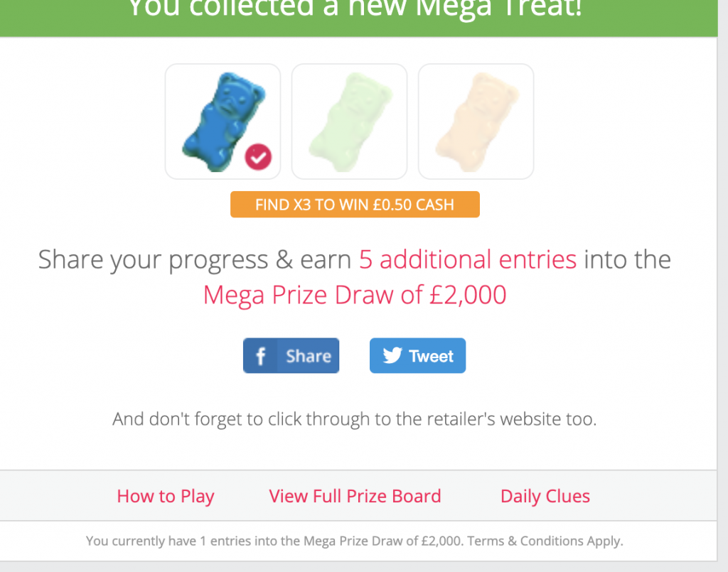 TopCashback mega treats 2020