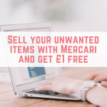 Sell your unwanted items with Mercari and get £1 free