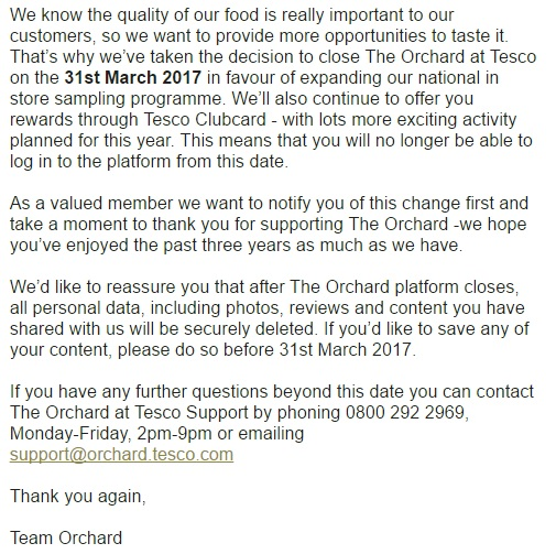Orchard Tesco