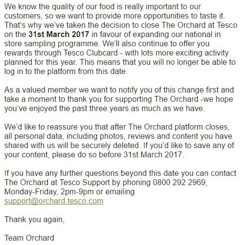 Orchard Tesco