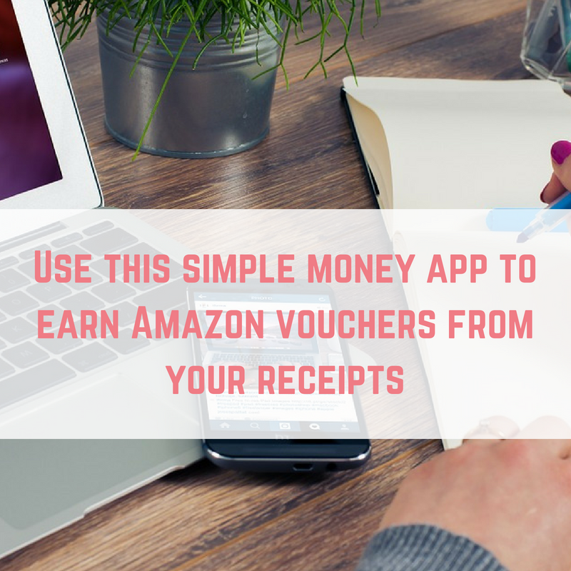 Use this simple money app to earn Amazon vouchers from your receipts
