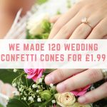 Make up to 120 wedding confetti cones for £1.99
