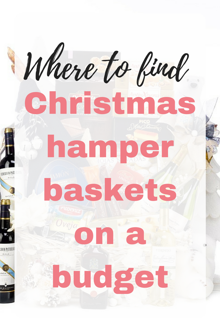 Christmas hamper baskets on a budget