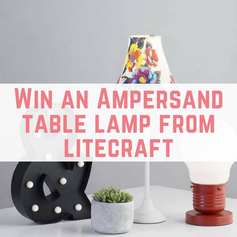 Win an Ampersand table lamp from litecraft