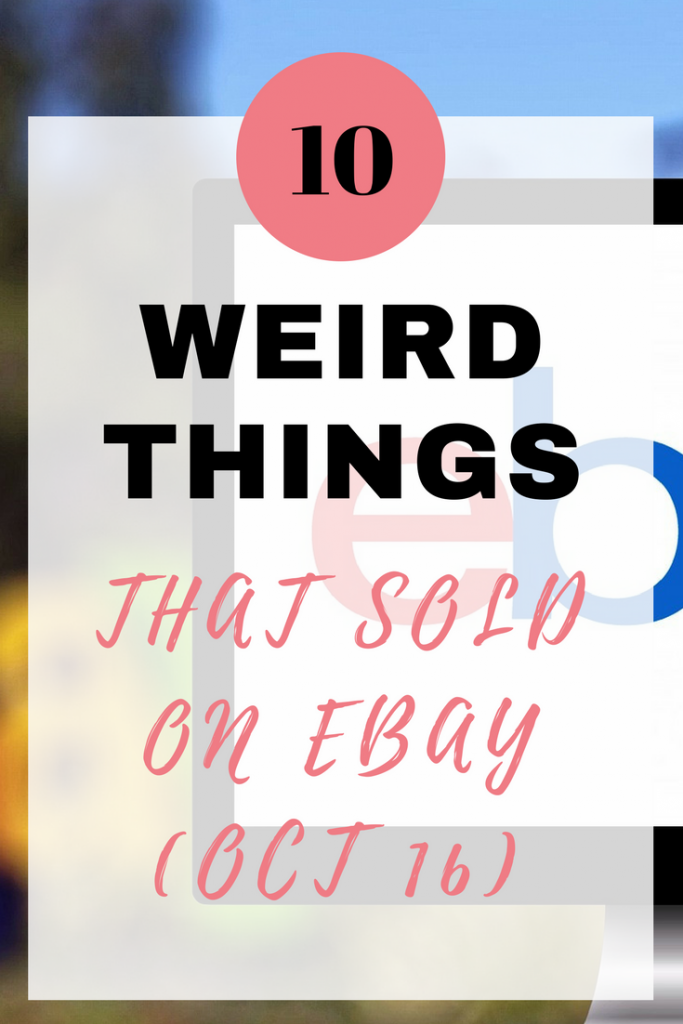 weird things that sold on eBay