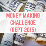 September 2015 money making challenge introduction