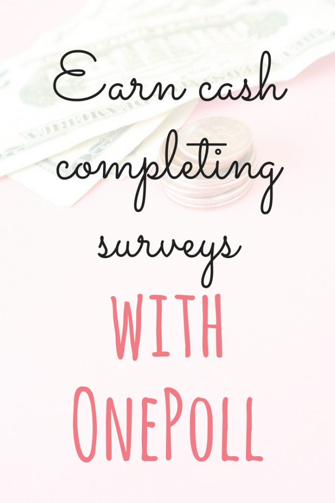 OnePoll offers short and sweet surveys (sometimes there are even one question surveys) to get you earning extra cash quickly Emma at EmmaDrew.info #EarnMoney #MoneyMaking #MakingMoney #WorkFromHome