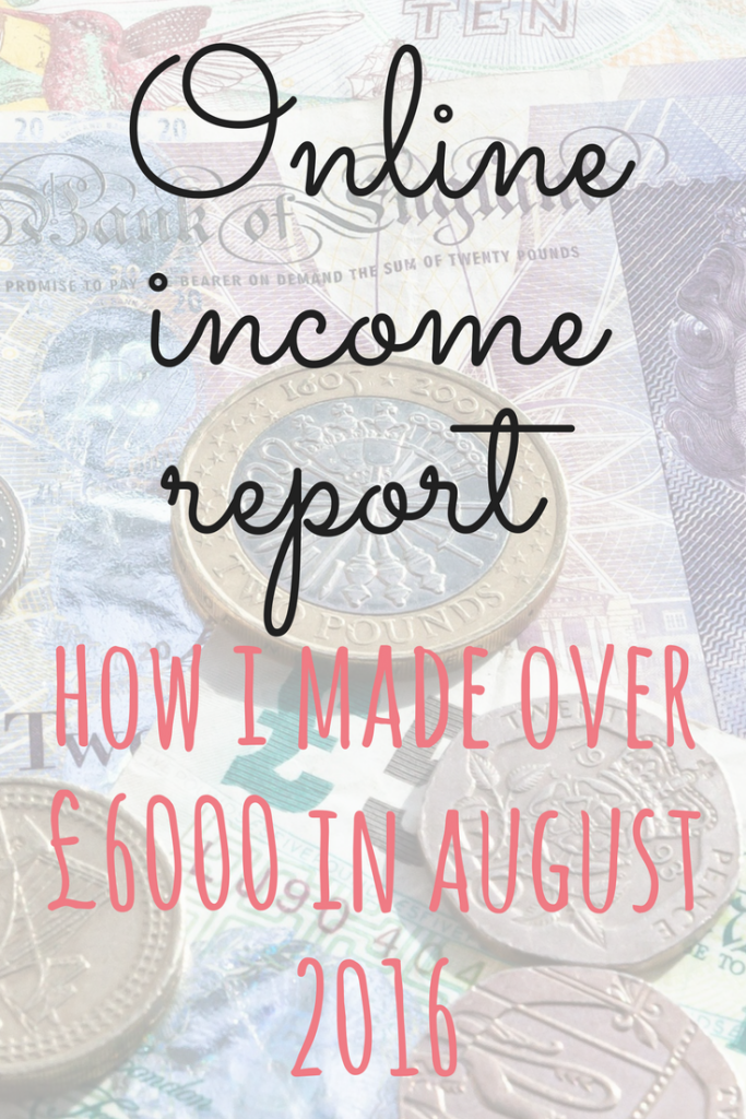 August 2016 online income report