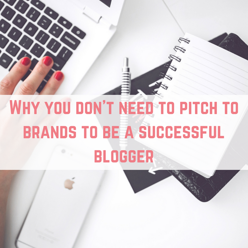 pitch to brands to be a successful blogger