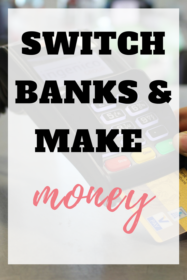 We all know that switching banks could save us money but did you know that by switching you can also make money as well? Here's how to get a better deal and earn some extra cash by Emma at emmaDrew.info  #makemoney #earnmoney #earnmoneyfromhome