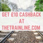 Get £10 cashback at Thetrainline.com